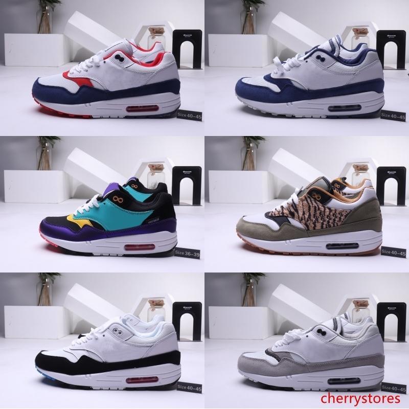 Vente chaude Mens Atmos 87 anniversaire 1 Piet Parra 87 Prime 1 DELUXE pastèque Multi - Couleur Chaussures De Course Femmes de conception sneaker