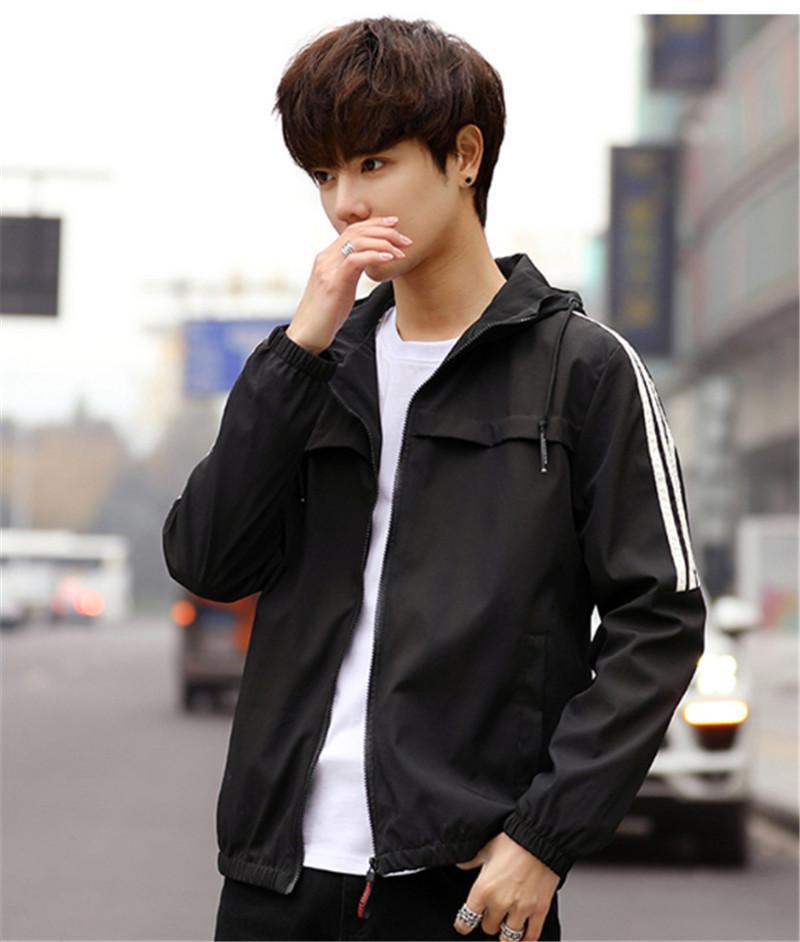 Herren-Designer Jacken Plus Size Stehkragen Langarm Homme Kleidung Solid Color Reißverschluss Lässige Kleidung
