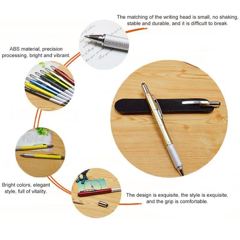 Оптовая Современный дизайн переоценивать Handy Tech Tool Шариковая ручка Отвертка Правитель Уровень Духа Многофункциональный инструмент, пригодный для Mens подарков