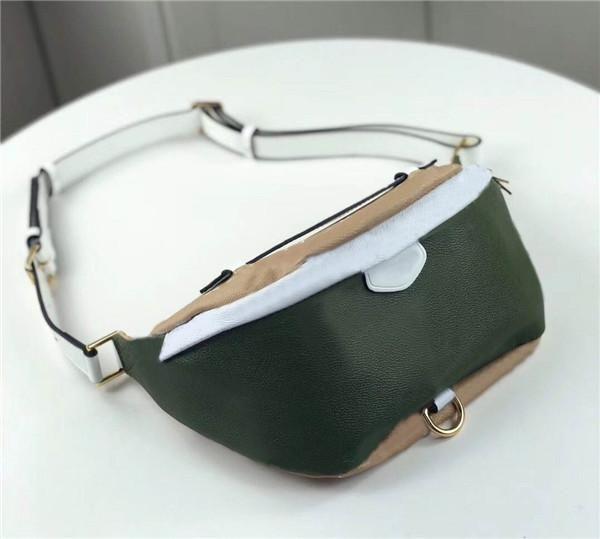 Imprimir Libre L Nuevas bolsas de marca Envío de mano Bolso de lujo Moda Moda Verde Mejor cintura 44575 Calidad de cuero Bolsa clásica grande 37 * 1 xsbs