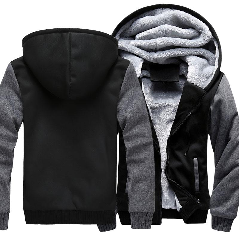 Размер США для Eagle Coat Zipper Hoodie зимы ватки Unisex сгущаться Jacket