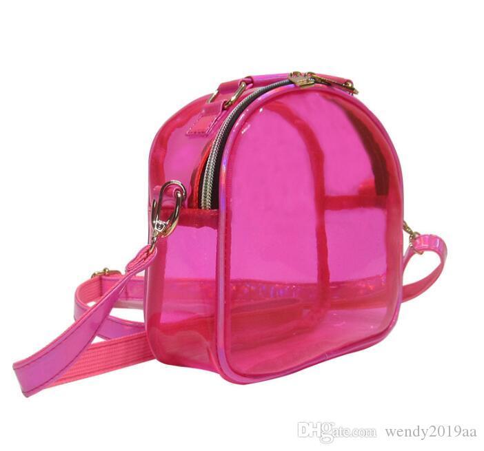 هيئة مل 3pcs الصليب حقيبة على الموضة للنساء PVC واضحة جيلي سعة كبيرة زيبر حقائب الكتف للماء 6colors