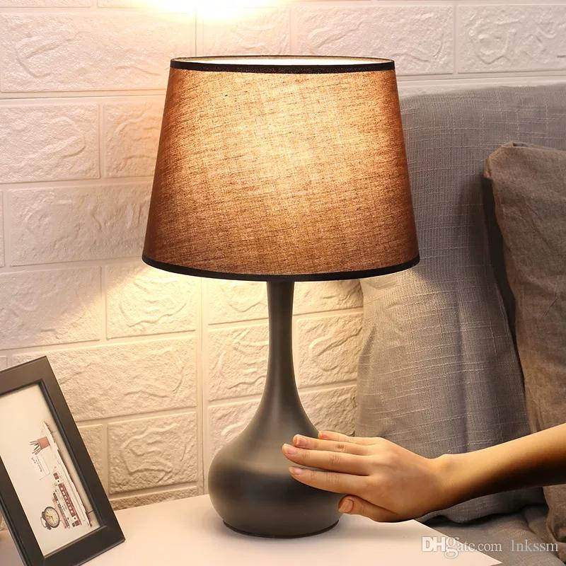 2020 American Table Lamp Bedroom Bedside Simple Modern Induction Lamp Warm Nordic Adjustable Light Touch Table Lamp From Lnkssm 30 24 Dhgate Com