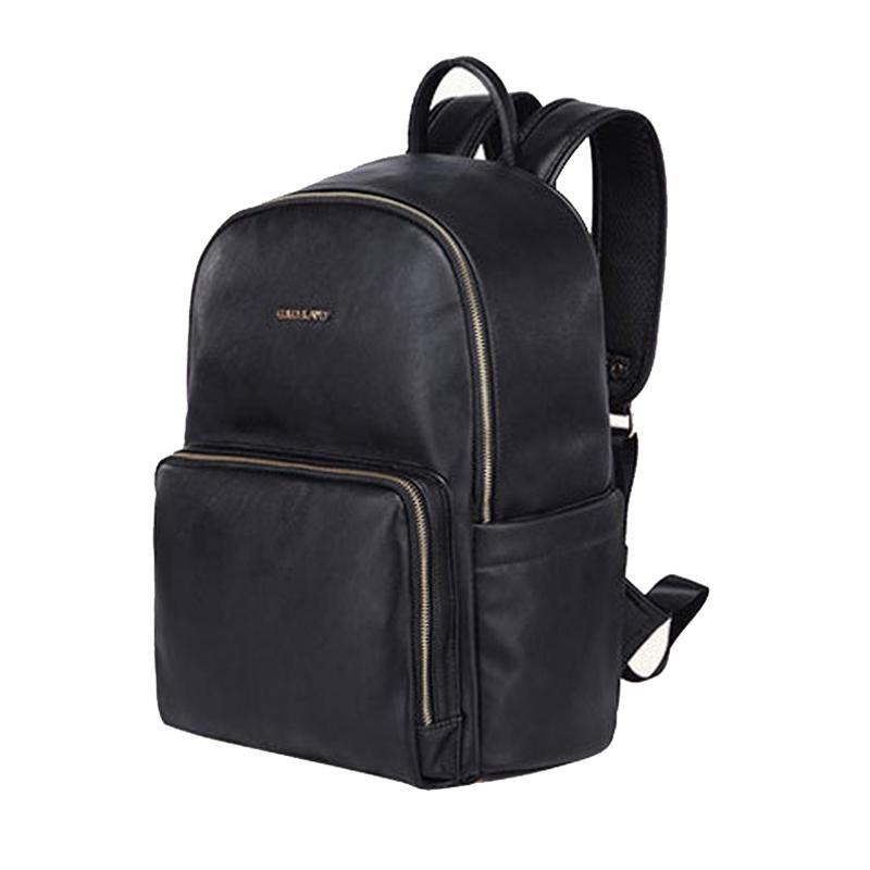 Сумки подгузника PU кожаная сумка для беременных подгузников, меняющаяся черная мумия большая емкость путешествия рюкзак для ребенка