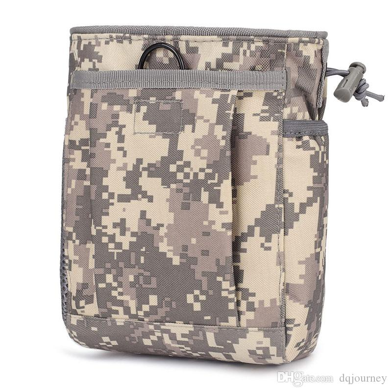 Tactical Army Molle Ammo Pouch Gun Magazine Dump Drop Reloader Pouch Bag Utility Hunting Rifle Magazine Recovery Pouch
