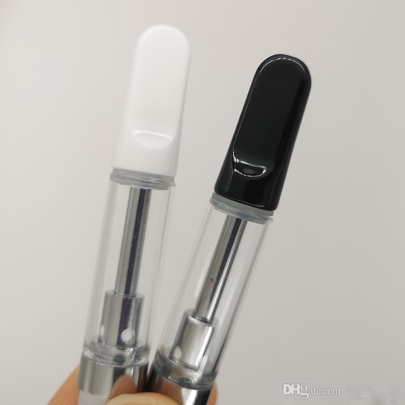 1.0ml TH205 Vape Cartridges 0.8ml 0.5ml Empty Ceramic Coil Vape Cartridge Thick Oil Ceramic Tips Glass Tank Vape Pen Atomizers 510 Vaporizer
