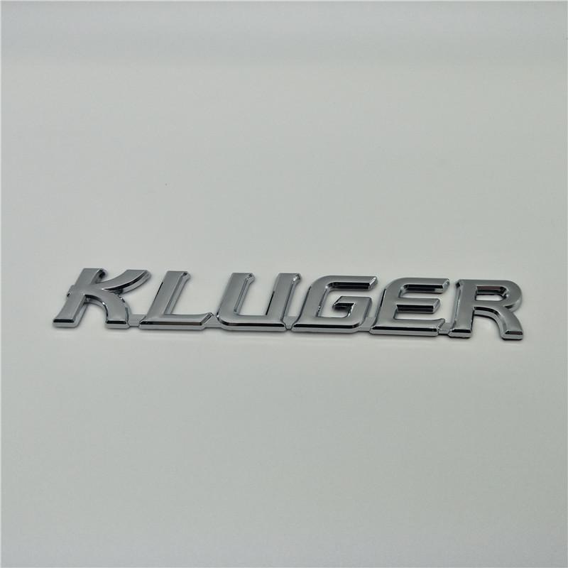 Pour les emblèmes Toyota Kluger Hybird emblème lettres arrière queue emblème