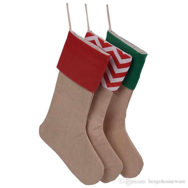 Weihnachtsstrümpfe Weihnachtsbaum Ornamente Stocking Kinder Weihnachtsmann-Geschenk-Süßigkeit Speicher Socke Weihnachten Kinderschmuck Socken BH0197 TQQ