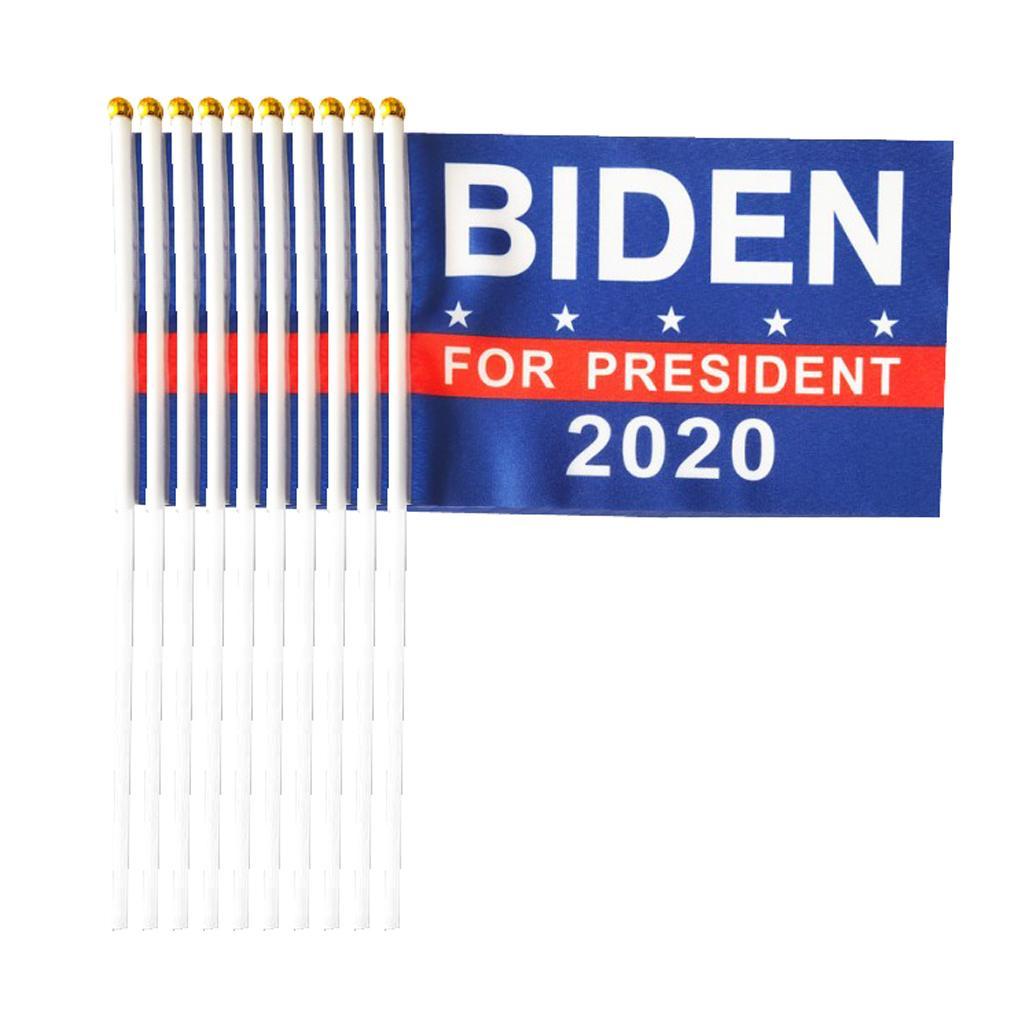 Conjunto de 20 Joe Biden 2020 Banderas Elegir Banderas Banderas Yard Inicio Alquiler de Decoración Banderas
