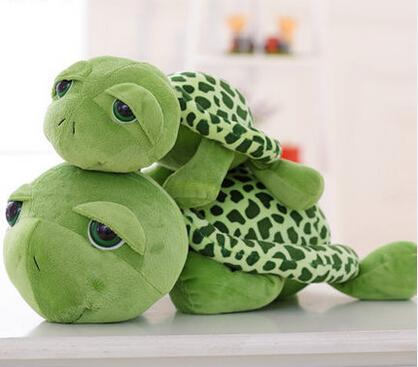 Wholesale- NEW 20cm Love Apartment lovely Big Eyes Small Turtle Tortoise Cute Doll Plush Toys Girls Gifts Baby Toy Free Shipping