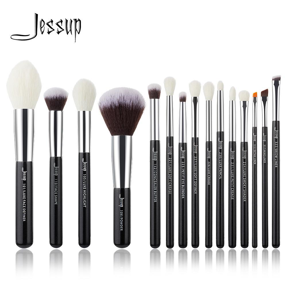 Brand Black/silver Professional Makeup Brushes Brush Set Tools Make Up Foundation Powder Natural-synthetic Hair