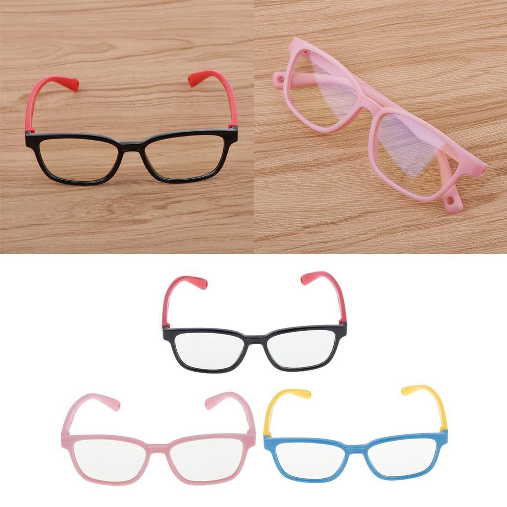 3X Eyeglasses For Kids Anti Blue Light Silicone Frame Children Game Glasses