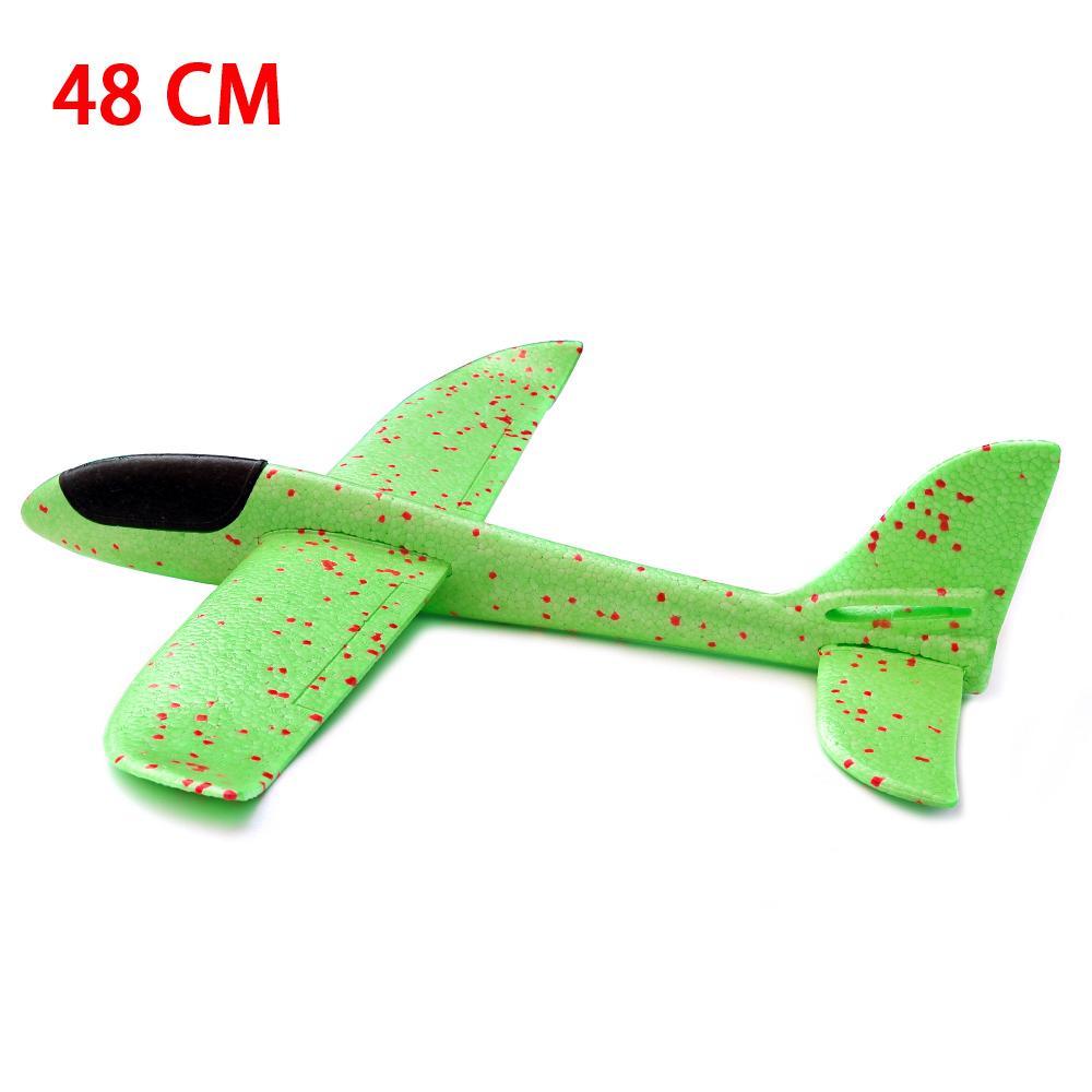 48 CM El Atmak Köpük Uçak Oyuncaklar Açık Başlatma Planör Uçak Çocuk Hediye Oyuncak Bulmaca Modeli Jouet Sinek Düzlem Oyuncak Çocuk Hediye Için # 123