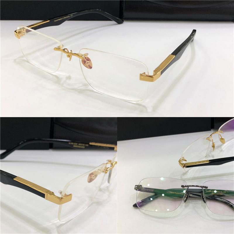 أزياء العلامة التجارية وصفة النظارات THE ARTIST I إطار بدون شفة الساقين كبيرة النظارات البصرية عدسة واضحة بسيطة أسلوب عمل للرجال