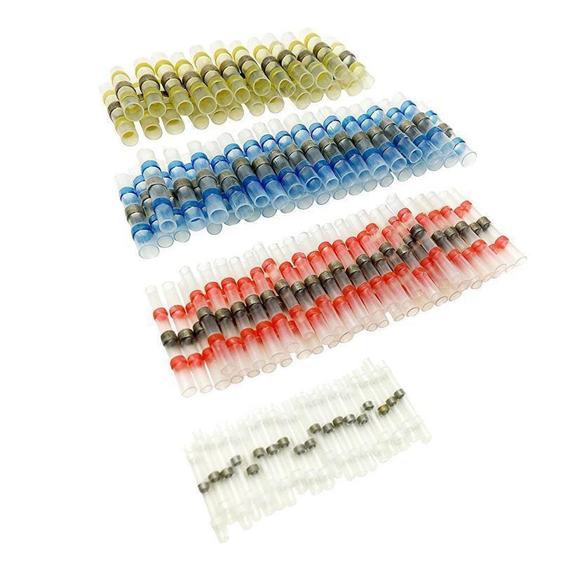 Joint à souder fil 50pcs Connecteur Sopoby à souder Joint thermorétractables BuConnectors Bornes cuivre (23Red 12Blue 10White 5Yellow)