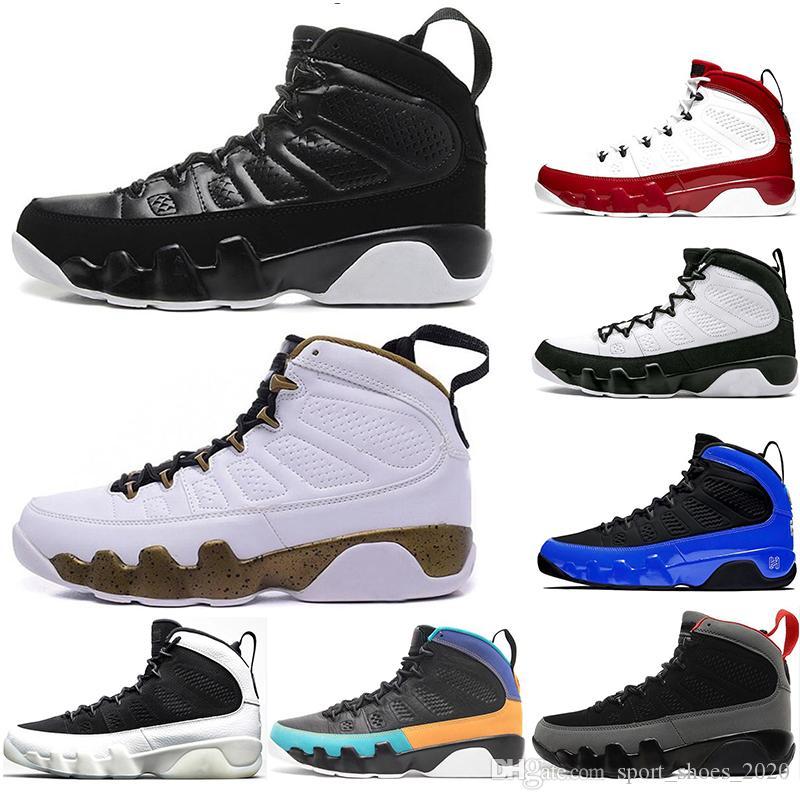 бесплатные носки роскоши Новейшие 9S мужские ботинки баскетбола Антрацит Дух Швабра Мело OG космические тренажеры тапки 9 спортивный размер обуви 40-47