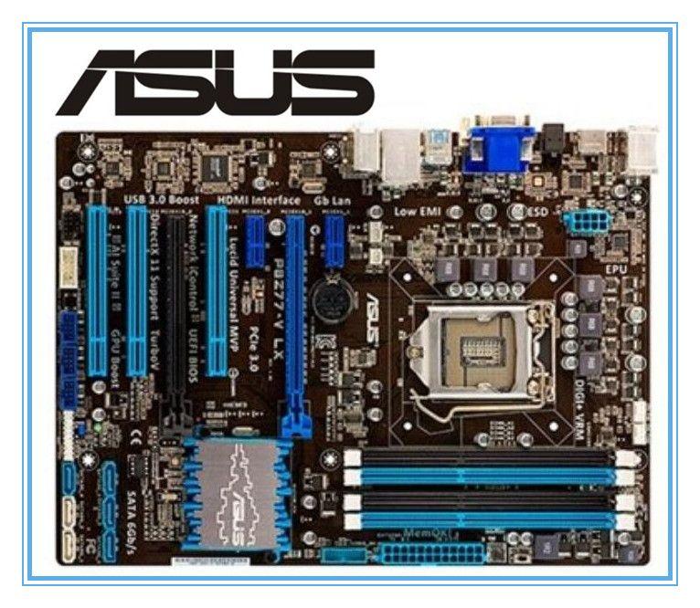 ASUS P8Z77-V LX LGA 1155 DDR3 1155 Anakart kullanılmış i5 22 / 32nm İşlemci USB3.0 32GB SATA3 VGA HDMI Z77 Masaüstü Orijinali i3 anakart