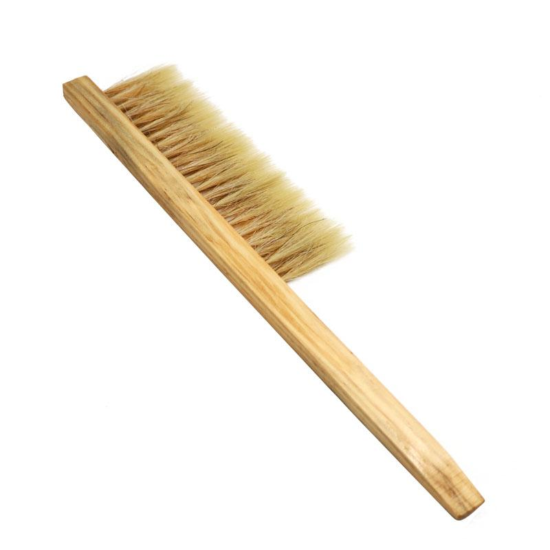 Wood Honey Brush Wasp bee Sweep Two Rows Of Horse Tail Hair Beekeeping Tools P1