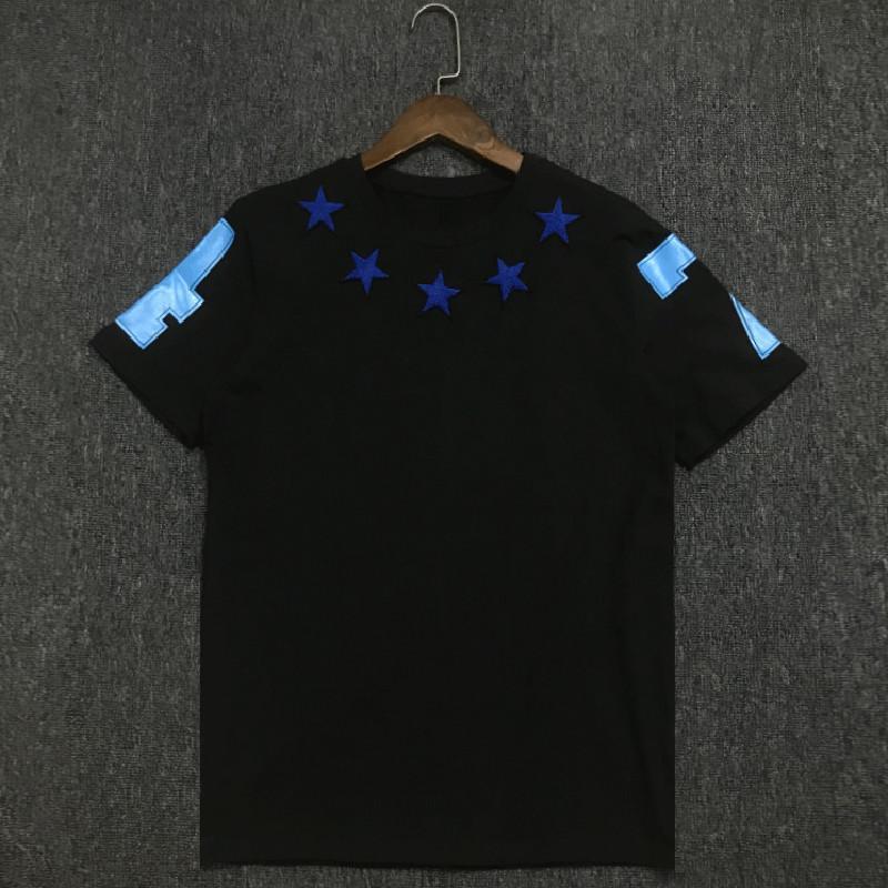 19SS Lüks Erkek Tasarımcı Tişörtlü Pamuk Unisex Kısa Kollu Erkek Casual Sport Tees 3 Renkler