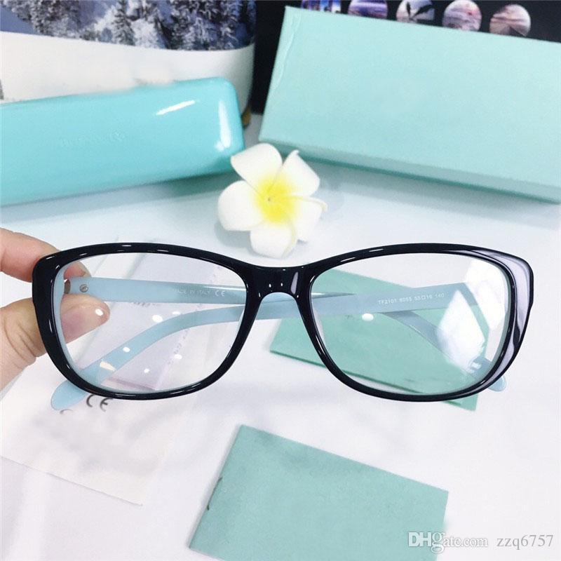 2018 جديد مصمم الأزياء البصريات نظارات 2101 القط eyeframe أعلى جودة HD حماية في الهواء الطلق نظارات أسلوب بسيط النبيل