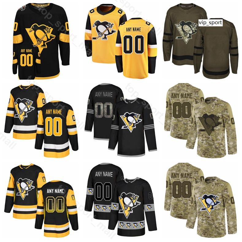 Pittsburgh Penguins Hockey Brian Dumoulin Jersey Bryan Rust Sidney Crosby Evgeni Malkin Marcus Pettersson Tanner Pearson Gradiente Personalizado