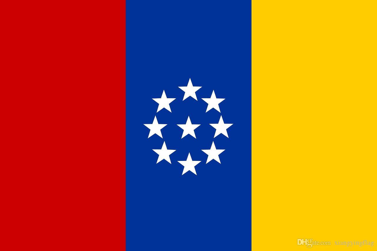freies Verschiffen Großhandelsfabrikpreis 100% Polyester 3x5fts 90 * 150cm Vereinigte Staaten von Neu-Granada Flagge für Dekoration