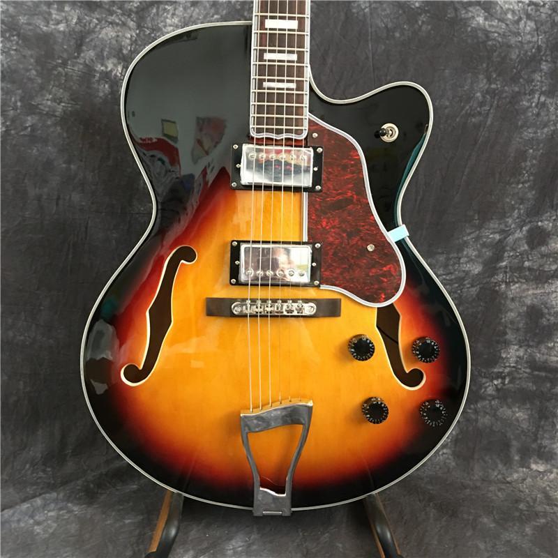 Nuova personalizzato chitarra elettrica, chitarra elettrica di jazz, chitarra vuota di colore di jazz, fornire personalizzazione. spedizione gratuita