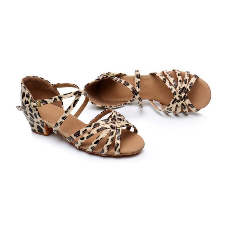 Стиль hildren девушки латиноамериканские танцевальные туфли на мягкой подошве дети на низком каблуке бальные танго производительность танцевальная обувь