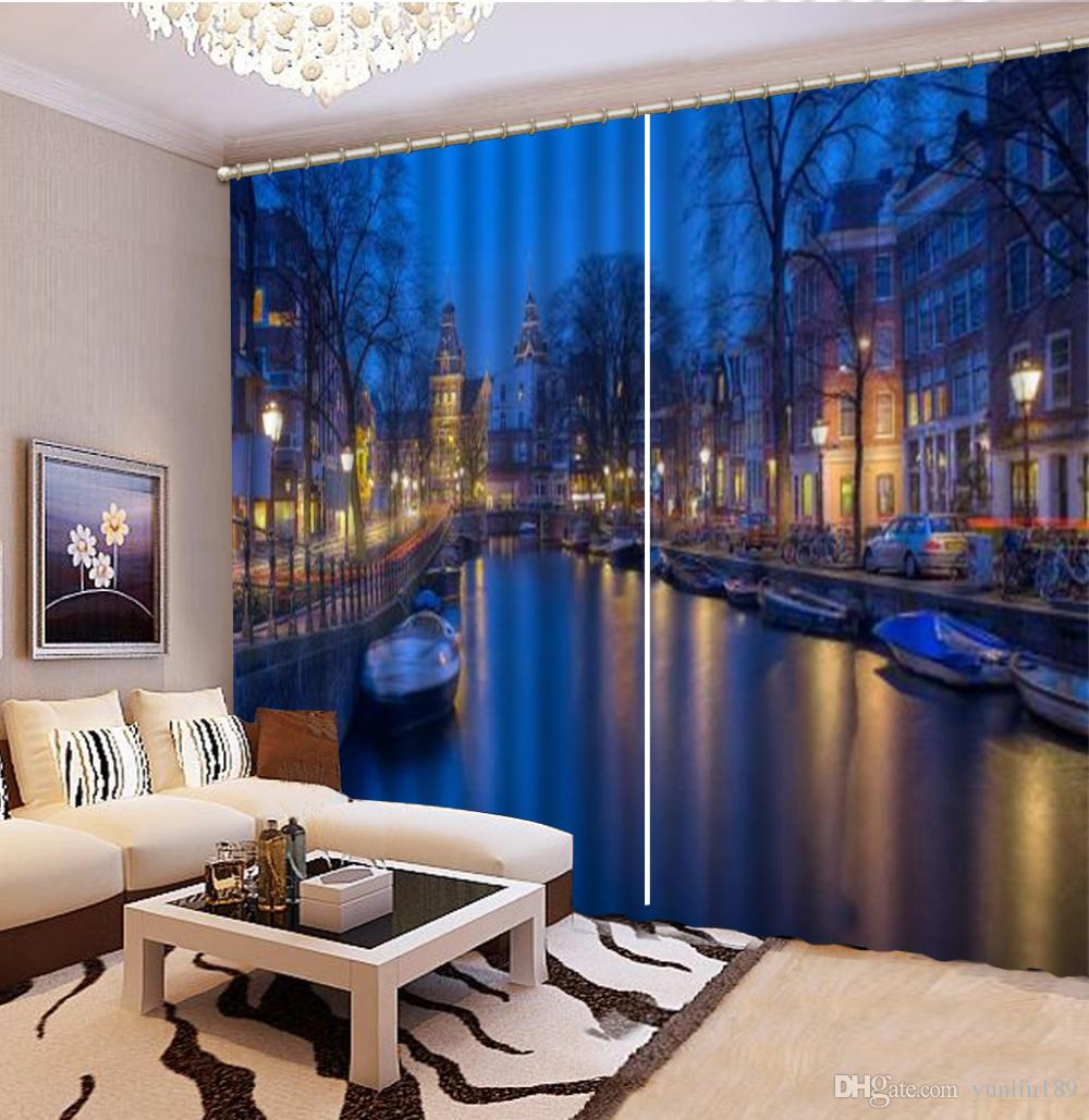 2019 Curtain Dreamy City Night 3d Landscape Curtains Living Room Bedroom Beautiful Practical Blackout Curtains From Yunlin189 116 99 Dhgate Com