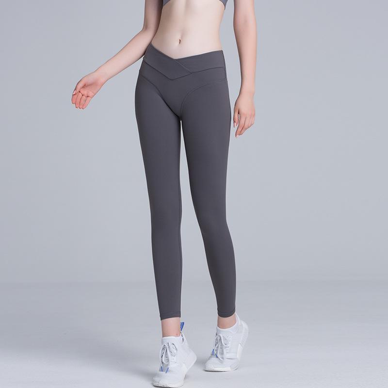 ELLSIKO Summer 2020 Yoga Pants Vintage High Elasticity Gymunks Women Ruging Femme Pantalon Mallas Deportivas Mujer