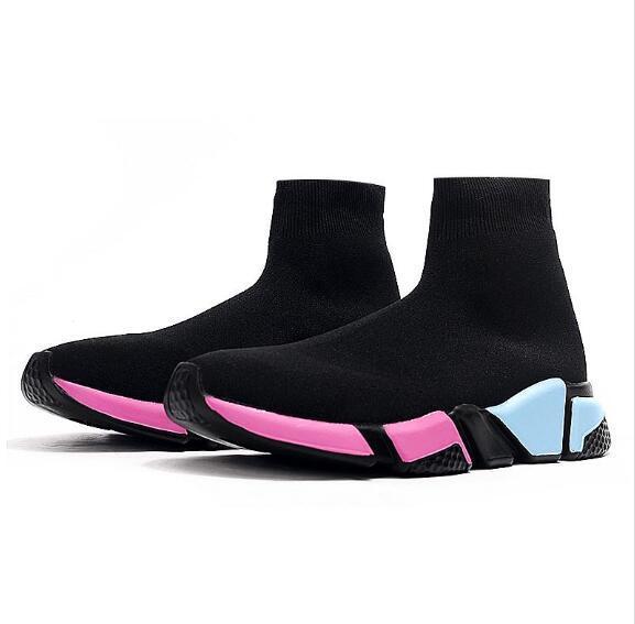 Balenciaga Frauen Männer-Walking-Schuhe Schwarz Weiß Rot OUTDOOR Speed Trainer Sport Sneakers Top Stiefel Freizeitschuh Herren 36-47