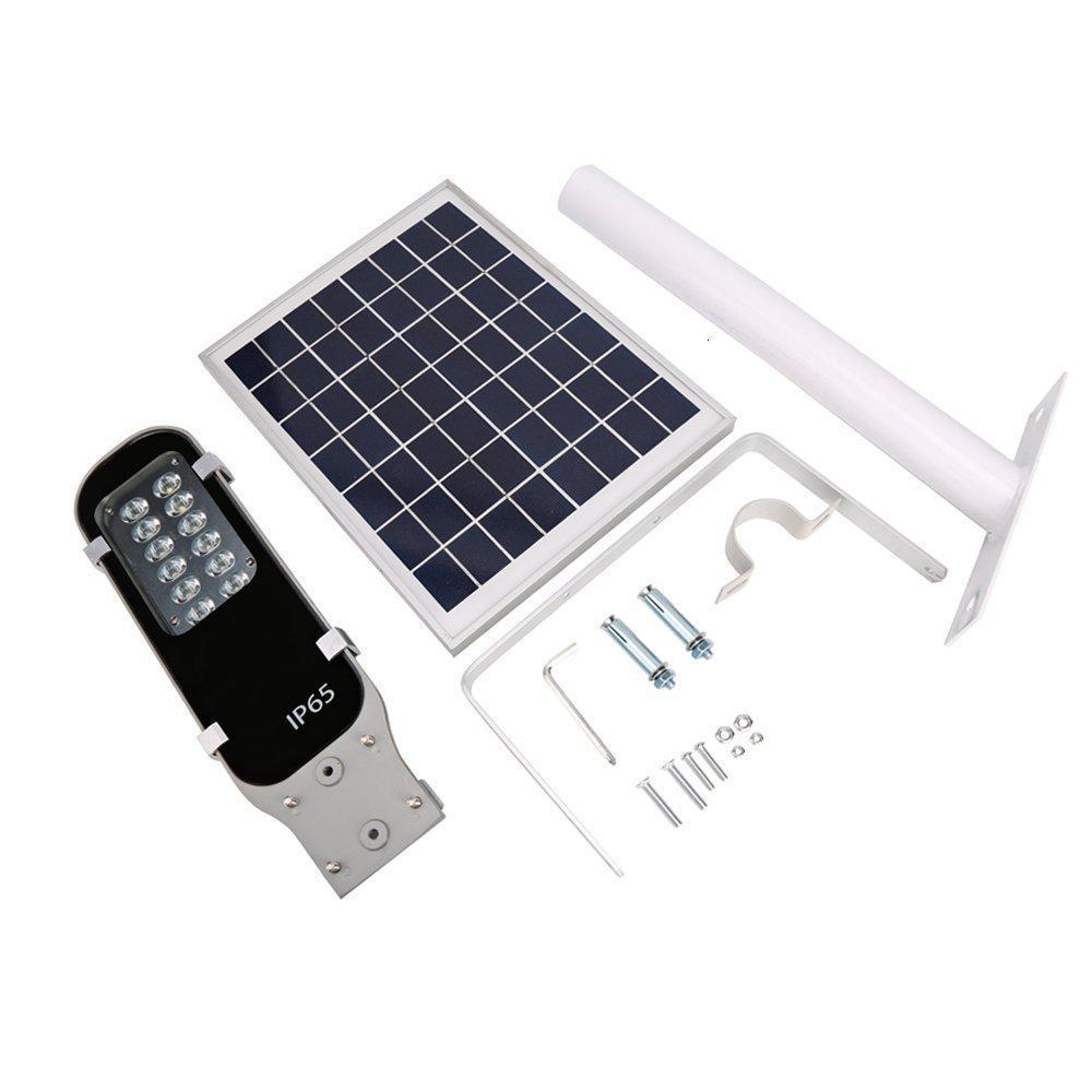 2pcs lampadaires extérieure dirigée solaire puce Bridgelux aluminium 120lm / w énergie solaire conduit l'éclairage extérieur IP65 6v 10w tout en un