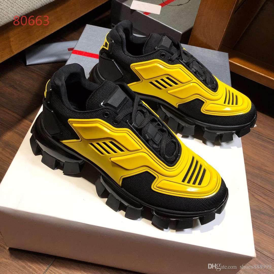 prada 2019 Meilleure qualité Trainer Designer de baskets de luxe pour hommes Casual Shoes Fashion Chaussures plates avec boîte et sac à poussière
