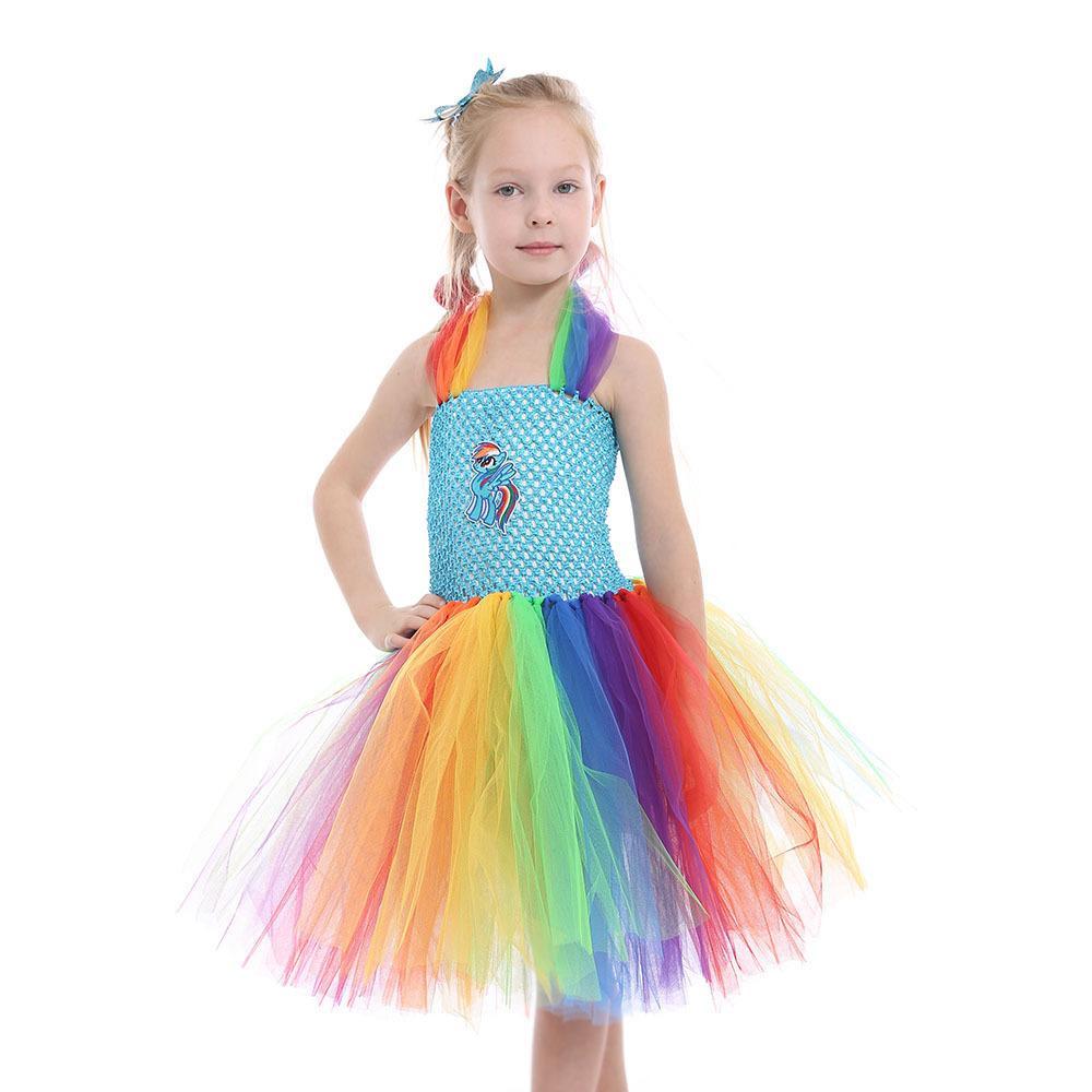 2020 Cross-Border Childrens saia Europeia Natal e American Hot malha Baoli Princess Dress Childrens Costume Girls Dress malha