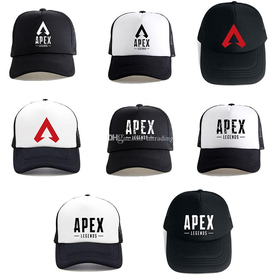 2019 Hot Apex Legends 3D Print New Trucker Cap Game Fans Cool Caps Summer Baseball Net Outdoor Casual Sports Caps Hat For Teenager C6145