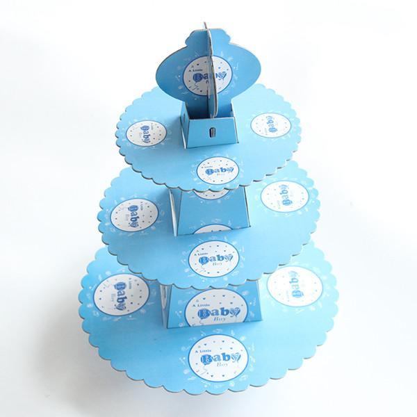 Baby 3-Tier-Tortenständer Cupcake Halter Mädchen Kindergeburtstagsfeier liefert Babyparty Party gefallen Dekoration Cupcake Stand