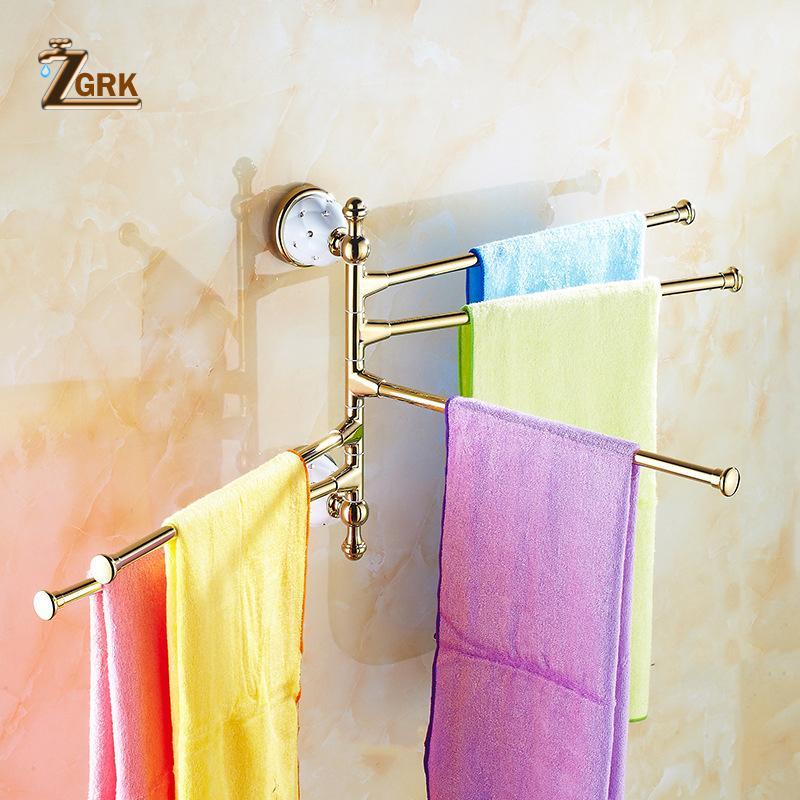 ZGRK Bar Bronze Towel Girando Toalheiros Casa de banho Cozinha Bath montado cremalheira e ativo Rails Acessórios Prateleira