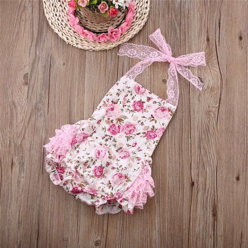 Babystrampler infant Baby-Body Floral Body Jumpsuit Spitze kräuselt sunsuit Outfits Blume weiß nicht, multi Farben