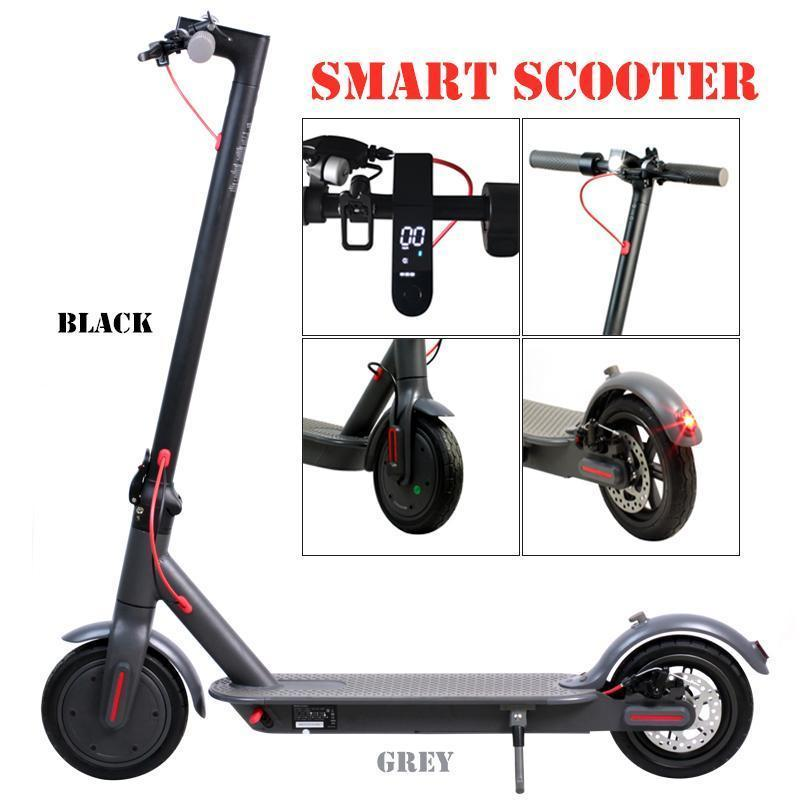 In Stock Electric Scooter 250W Folding Kick Bike Bicycle Scooters For Adult 36V With LED Display High Speed Off Road Electric Equipment