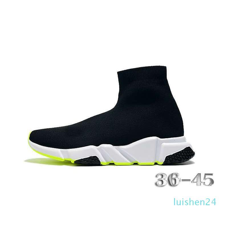 New Arrivlas designers Runners Casual Sport Chaussures Mode luxurys Femmes Hommes Vitesse Entraîneur de Noir Blanc Rouge Chaussette Chaussures L24