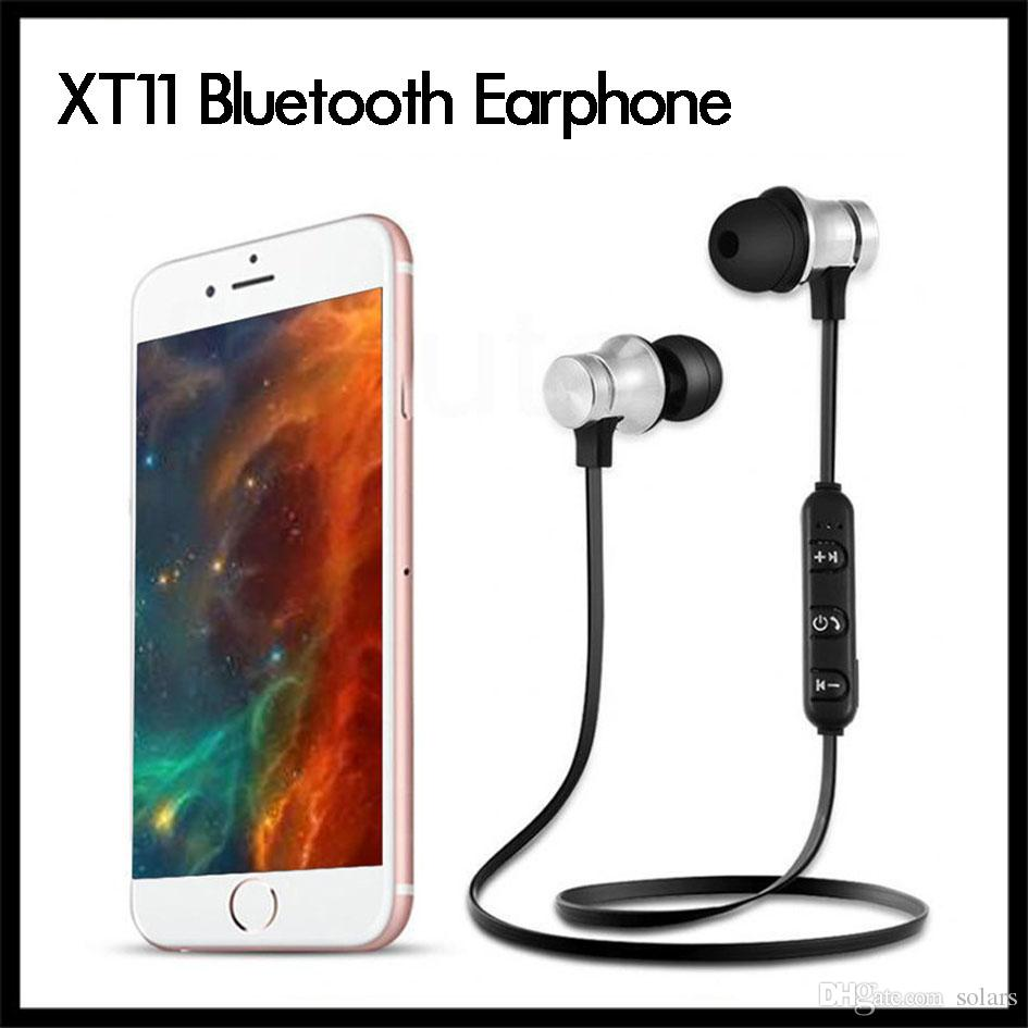 XT11 Bluetooth Casque sans fil Sport écouteurs casque BT 4.2 avec micro pour iPhone MP3 Oreillettes LG Smartphones avec Retail Box