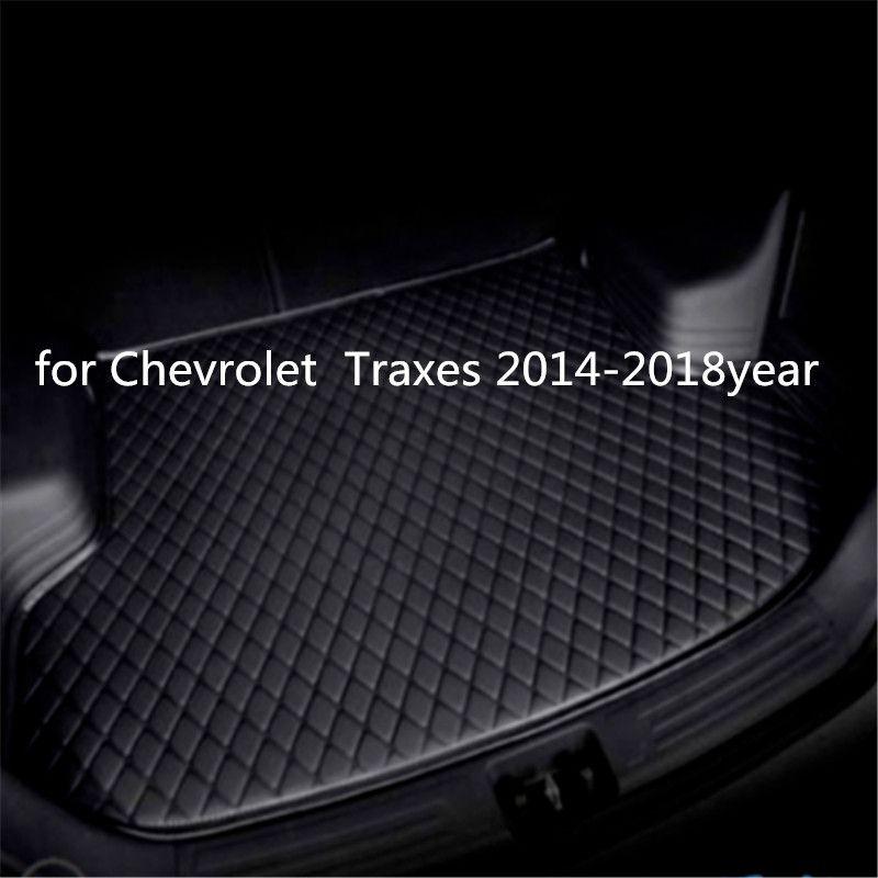 Individuelle Anti-Rutsch-Leder Auto Kofferraummatte Bodenmatte geeignet für Chevrolet Traxes 2014-2018year Auto Anti-Rutsch-Matte