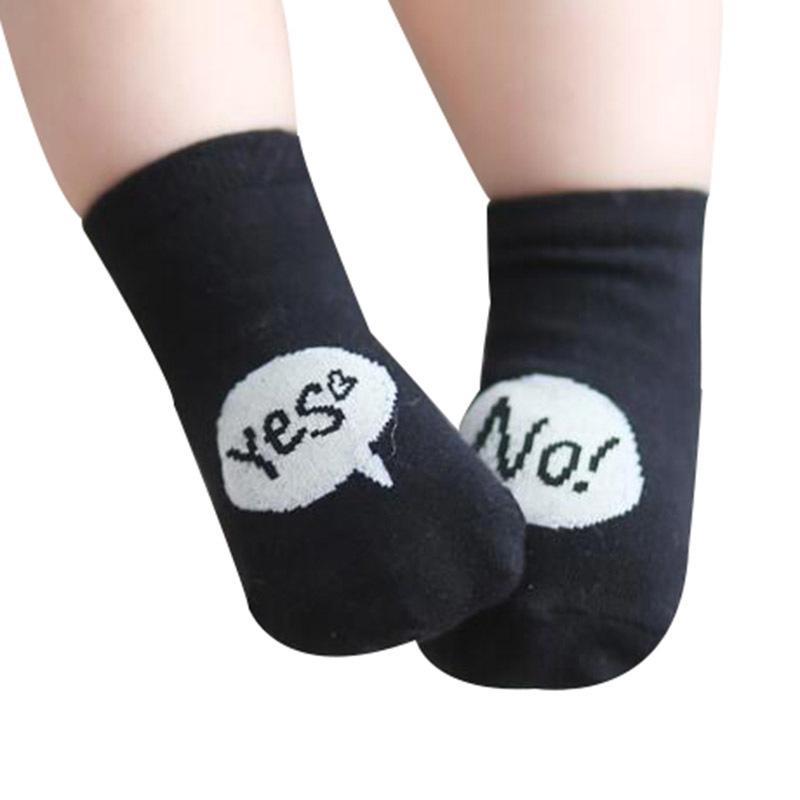 1 Pairs 2018 New Spring Baby Socks Newborn Cotton Boys Girls Cute Toddler Asymmetry Anti-slip Socks Children