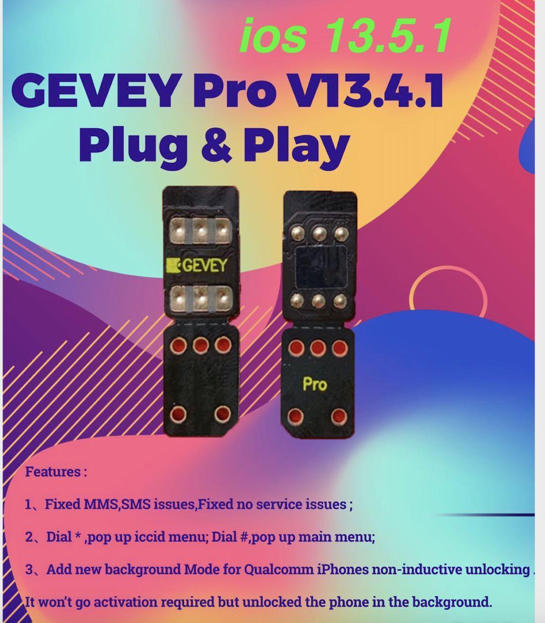 Worldly perfetta GEVEY pro V13.4.1 di chip aggiornabile sim sbloccare iOS 13.5.1card sblocco iphone11 Pro X xs max XR max iphone8 7 6 più SE2