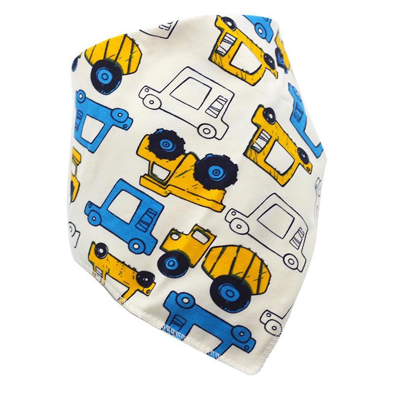 Bavettes triangle de haute qualité doubles couches de coton Baberos Cartoon animaux de caractères Imprimer bébé bavoirs bandana bavoirs dribble