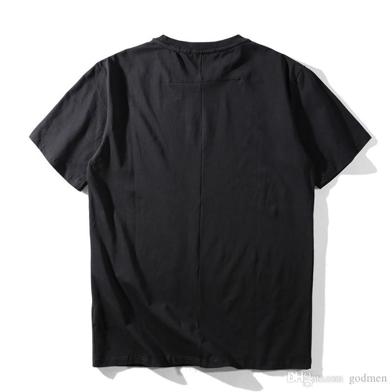 Mens Stylist T Shirt tipo casuale stampa della stella dei manicotti del nero di modo uomini di stampa Bianco Donne Hip Hop Tees