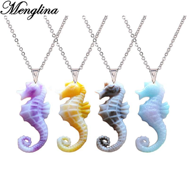Silver Yellow Plated Seahorse Charm 40mm