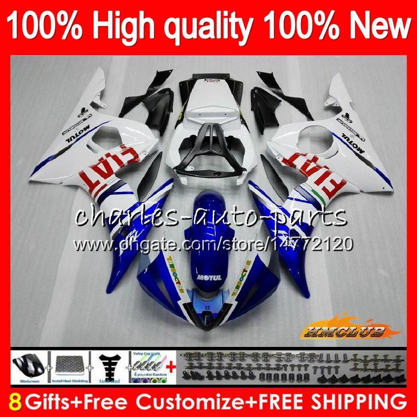 BodysForYAMAHAYZFR6SYZF600YZF-R6SYZFR6S06-0960HC.16 YZF-600YZFR6S060708092006200720082009blue white new Fairing+8Gifts