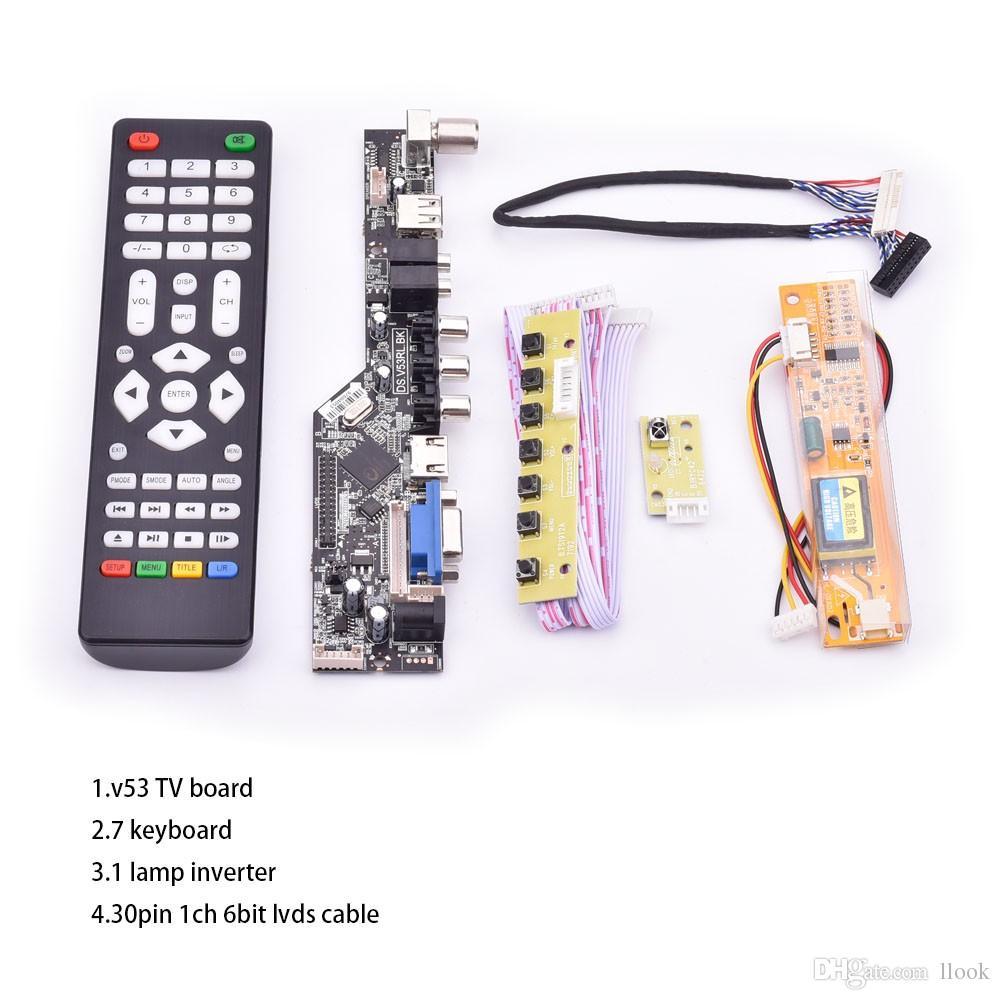 Kit for  LP154WX4-TLB4 TV+HDMI+VGA+USB LCD LED screen Controller Driver Board