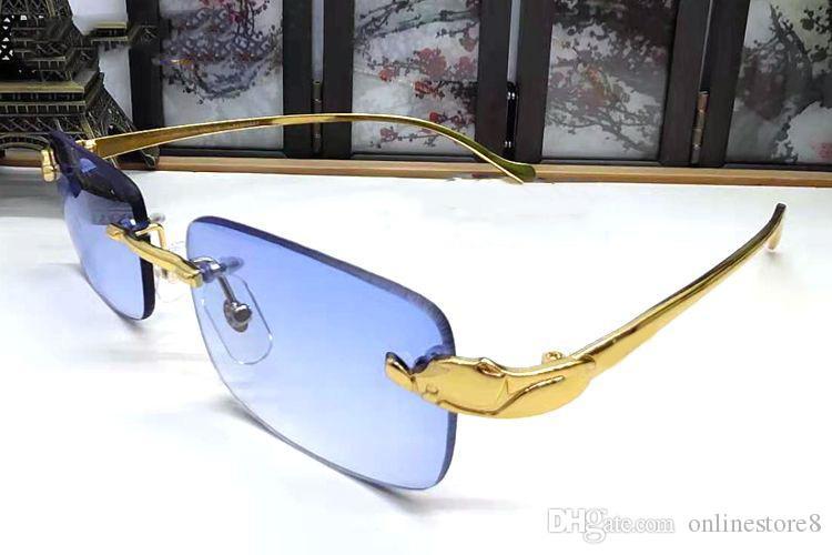 6 couleurs en alliage classique marque Buffalo simple rectangle pour lunettes léopard Choisissez des lunettes de soleil Verres sans chasse Lentilles de miroir Gafas UKAOB